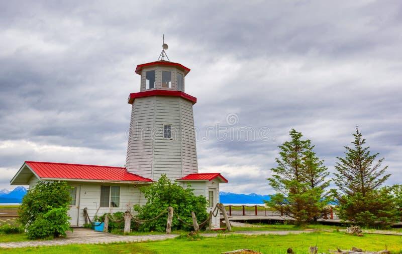 Phare en Homer Alaska photo stock