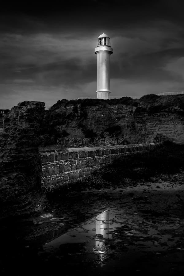Phare et réflexion de Wollongong photographie stock libre de droits
