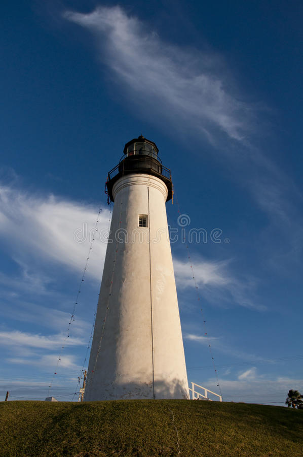 Phare historique dans le port isabel, le Texas photos stock