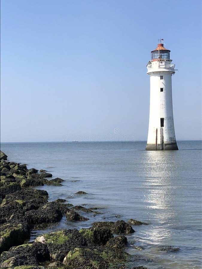 Phare hors d'usage, nouveau Brighton, Wirral photos libres de droits