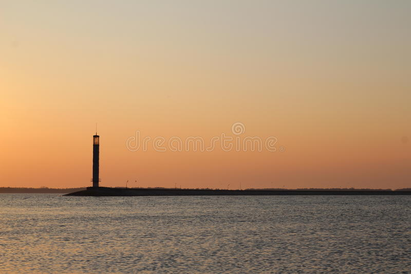 Phare isolé photo stock