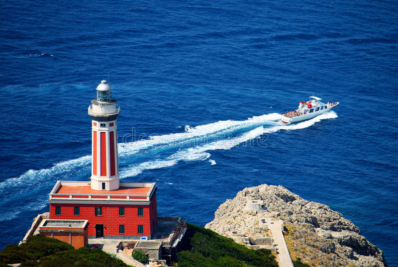 Phare Italie de Capri image stock