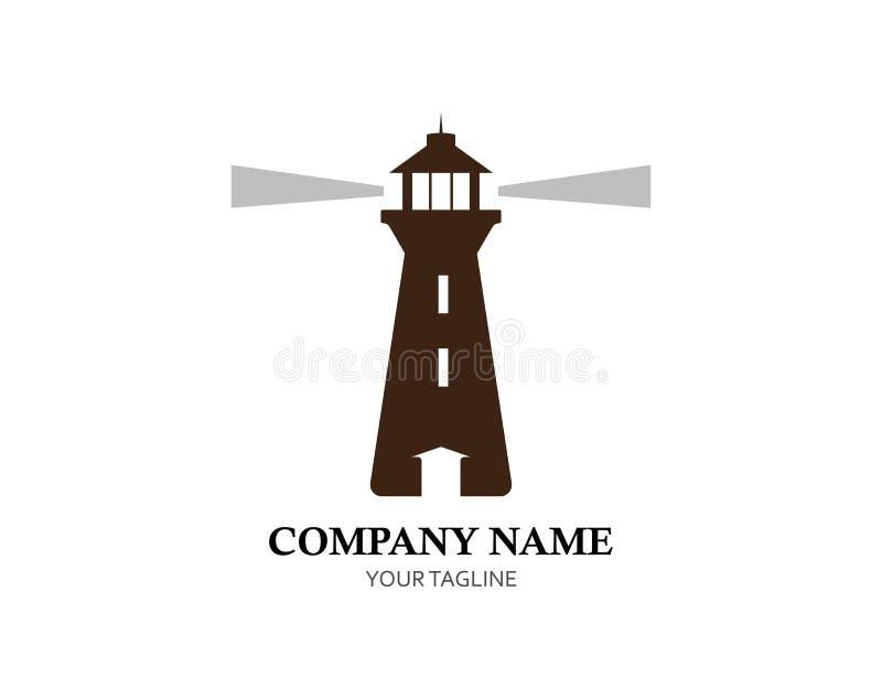 Phare Logo Template illustration de vecteur