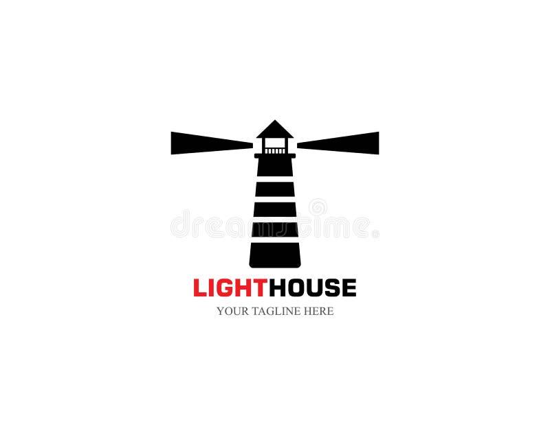 Phare Logo Template illustration libre de droits