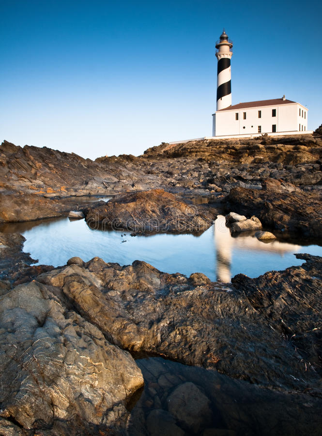 Phare, Menorca image stock