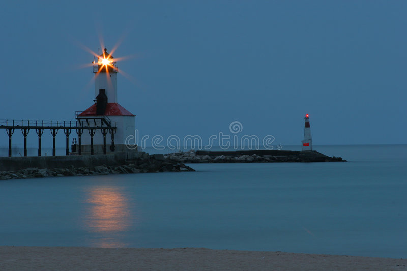 phare Michigan de ville photo libre de droits