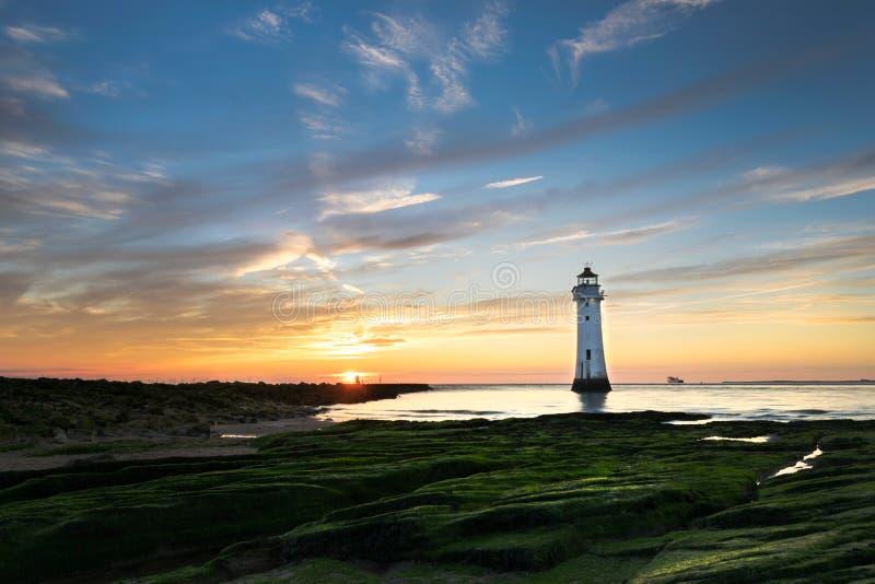 Phare nouveau Brighton de roche de perche image libre de droits