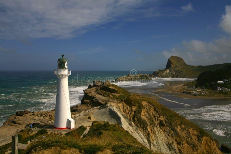 Phare 2 NZ de point de château photographie stock