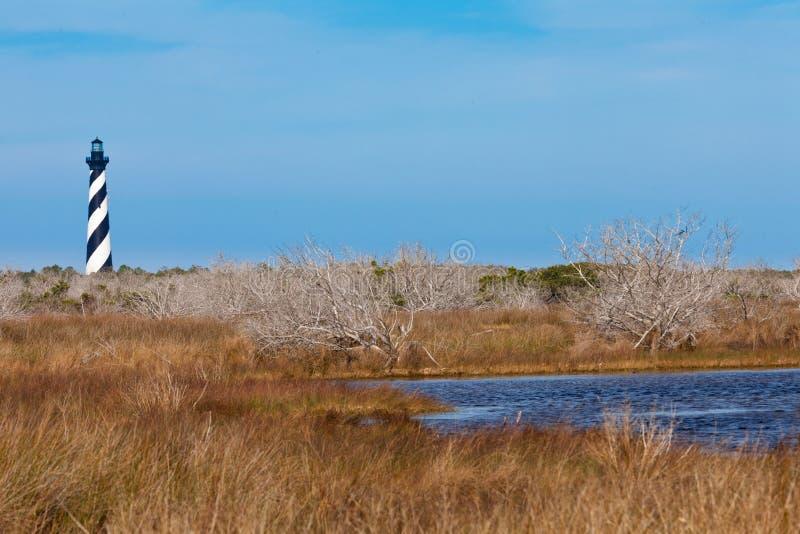 Phare OBX la Caroline du Nord OR Etats-Unis du Cap Hatteras photographie stock