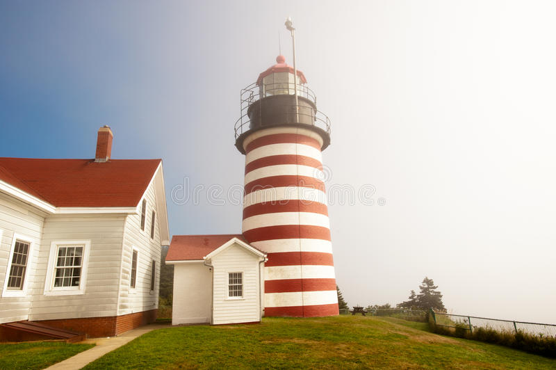 Phare occidental de Quoddy images stock