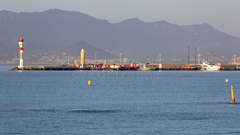 Phare Pier Cannes images stock