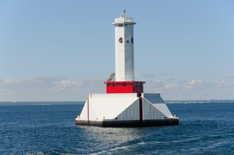 Phare près d'île Michigan de Mackinac photographie stock libre de droits