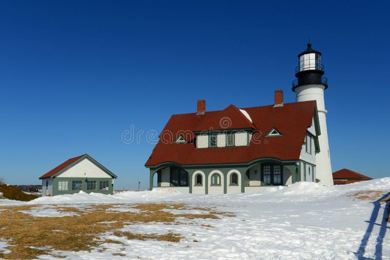 Phare principal de Portland, Maine photos stock