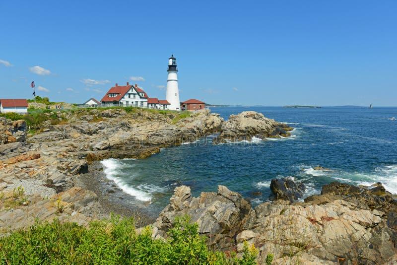 Phare principal de Portland, Maine, Etats-Unis photo libre de droits