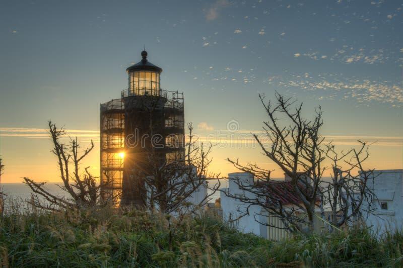 Phare principal du nord sur Washington Coast du sud photos libres de droits