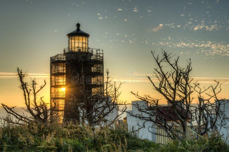 Phare principal du nord sur Washington Coast du sud photo libre de droits