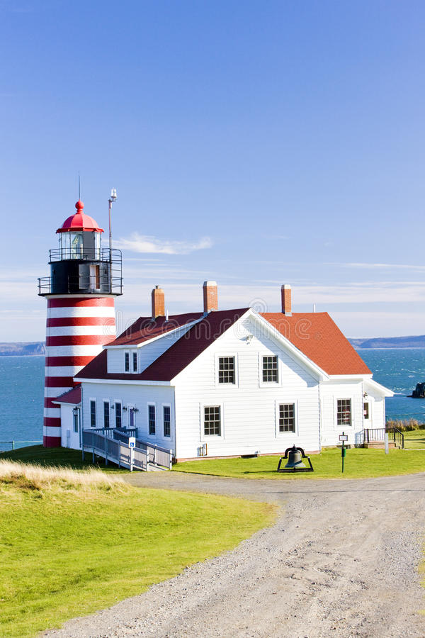 Phare principal occidental de Quoddy photographie stock libre de droits