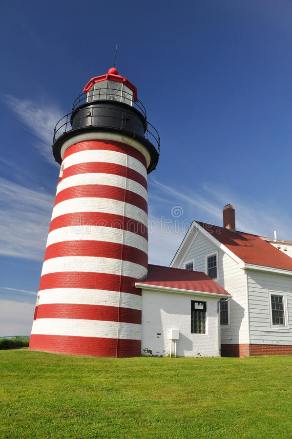 Phare principal occidental de Quoddy, Maine photos stock