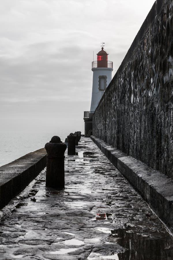 Phare rouge de La Chaume photographie stock libre de droits