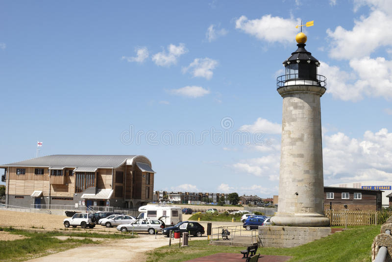Phare. Shoreham. Le Sussex. LE R-U photos stock