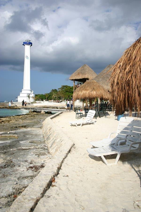 Phare sur Cozumel images libres de droits