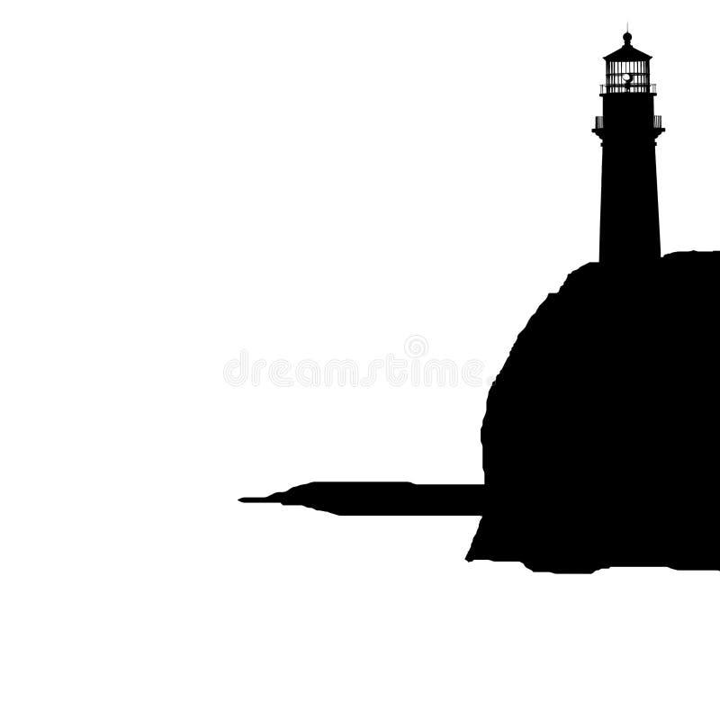 Phare sur l'isolement de falaise illustration stock