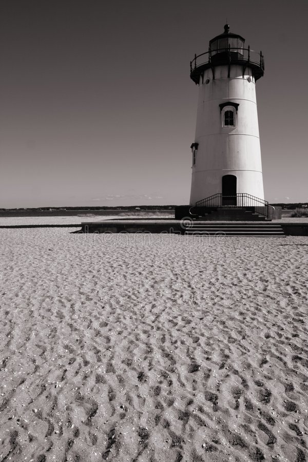 Phare sur la plage photos stock