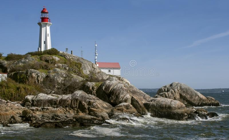 Phare Vancouver occidental image libre de droits