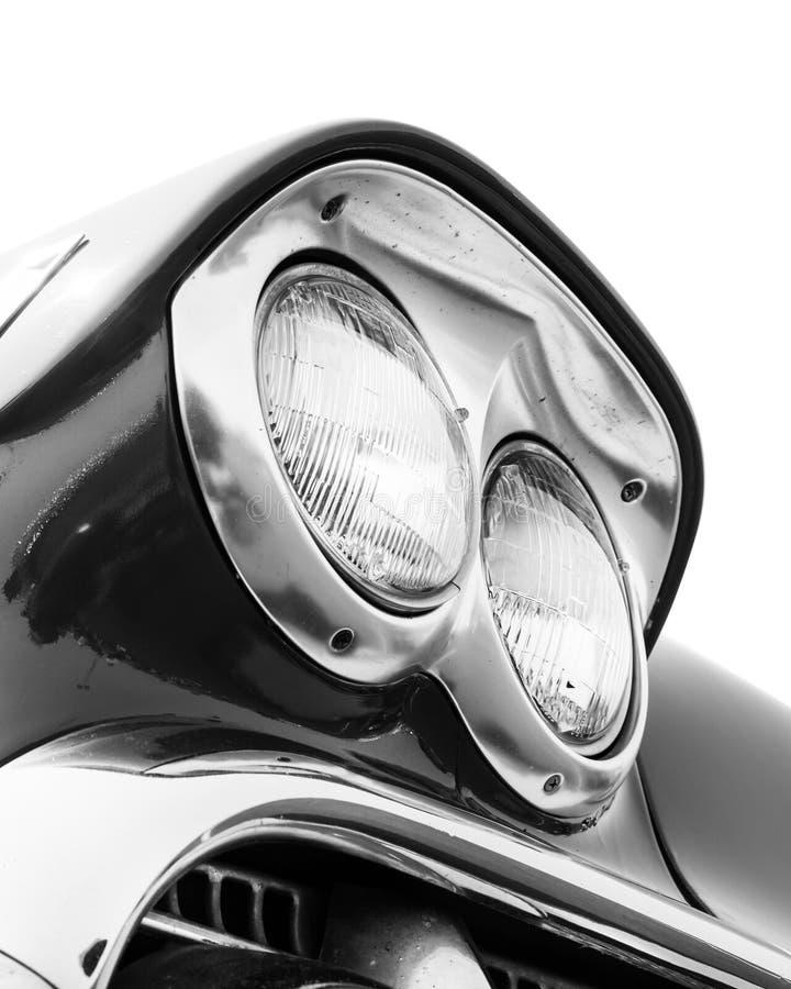 Phares classiques de voiture photographie stock libre de droits