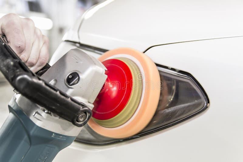 Phares de polissage de voiture photos libres de droits