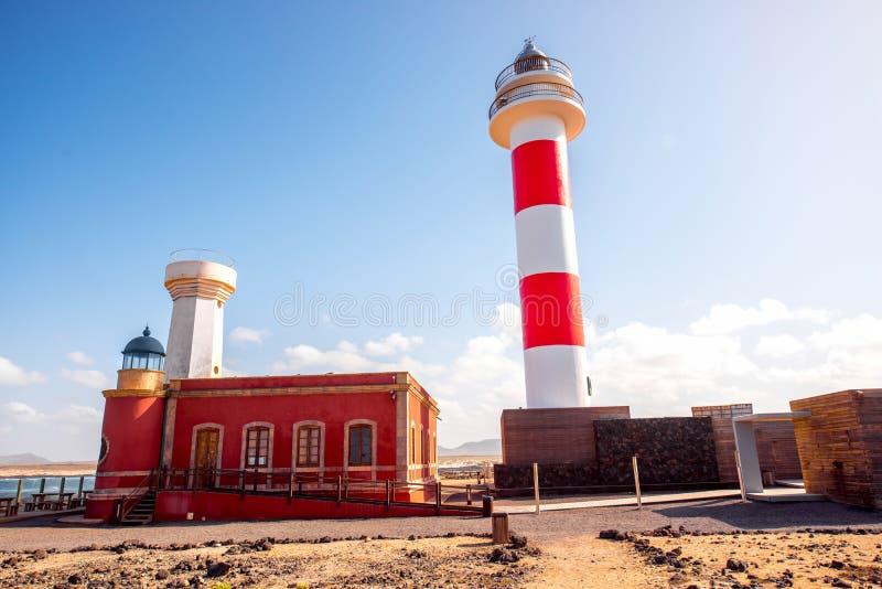 Phares sur la partie nord de l'île de Fuerteventura photographie stock