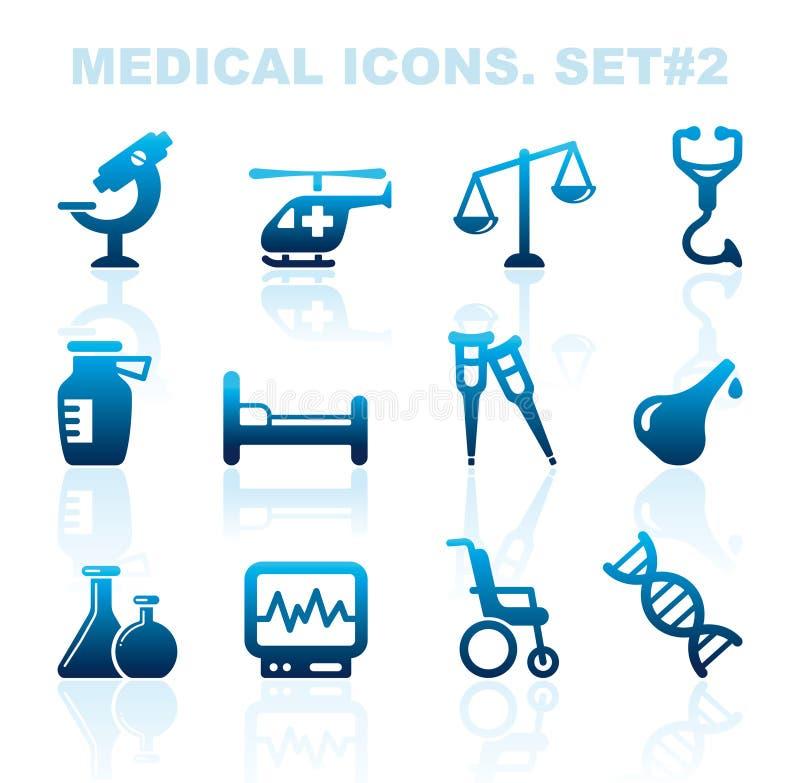 Pharma i Opiek zdrowotnych ikony ilustracji