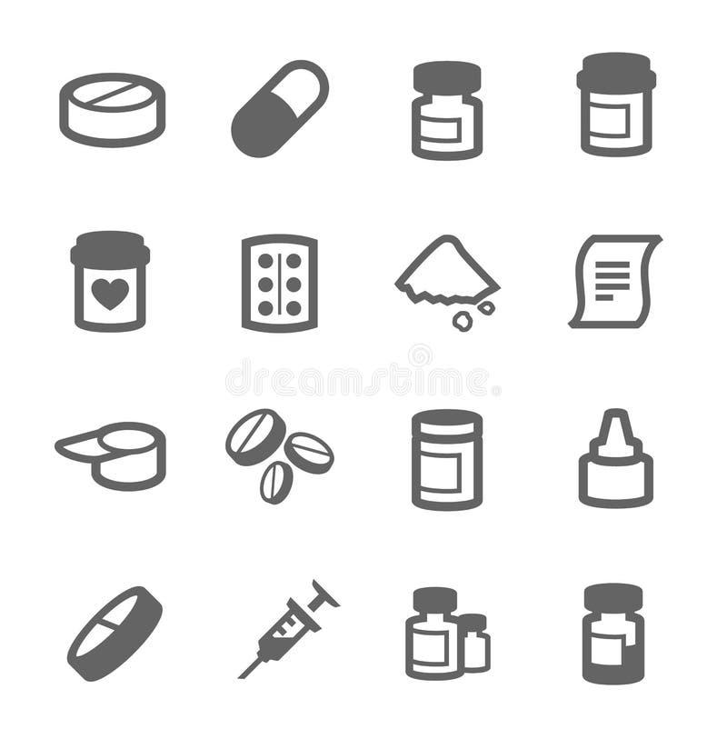 Pharma-Ikonen lizenzfreie abbildung