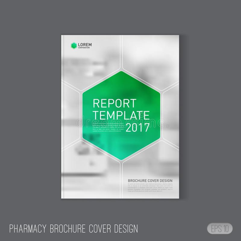 Pharmaceutical Brochure Cover Template Stock Vector Illustration
