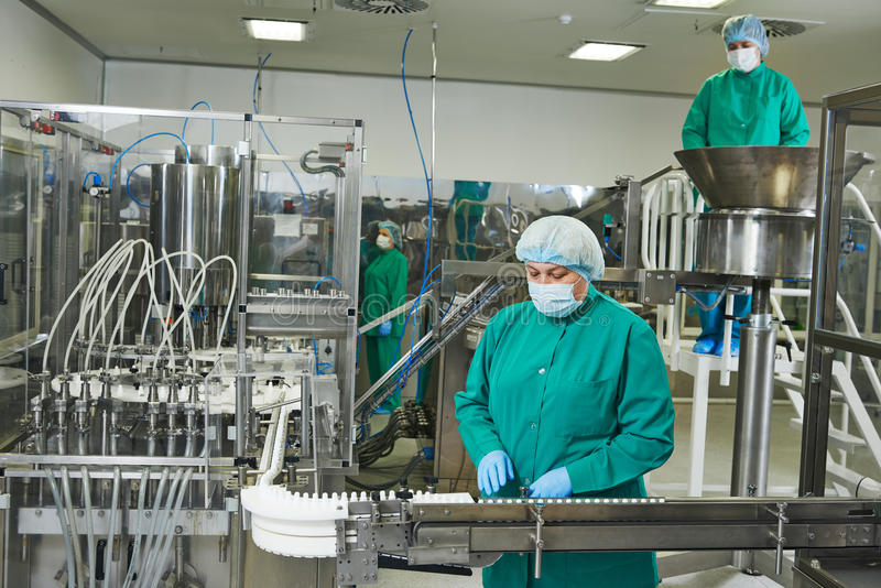 Pharmaceutical factory stock image
