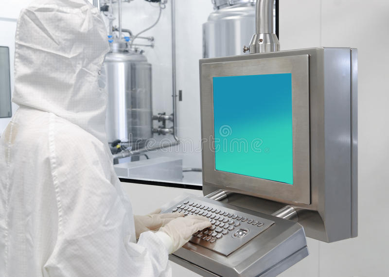 Pharmaceutical industry. Interior of a pharmaceutical industry workers royalty free stock images