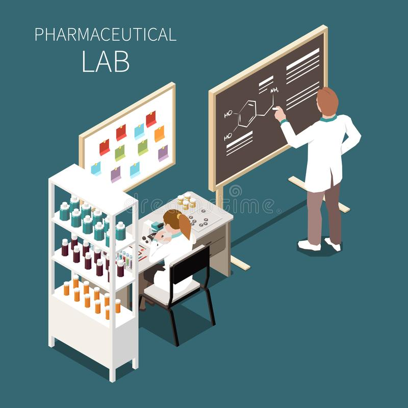 Pharmaceutical Lab Concept vector illustration