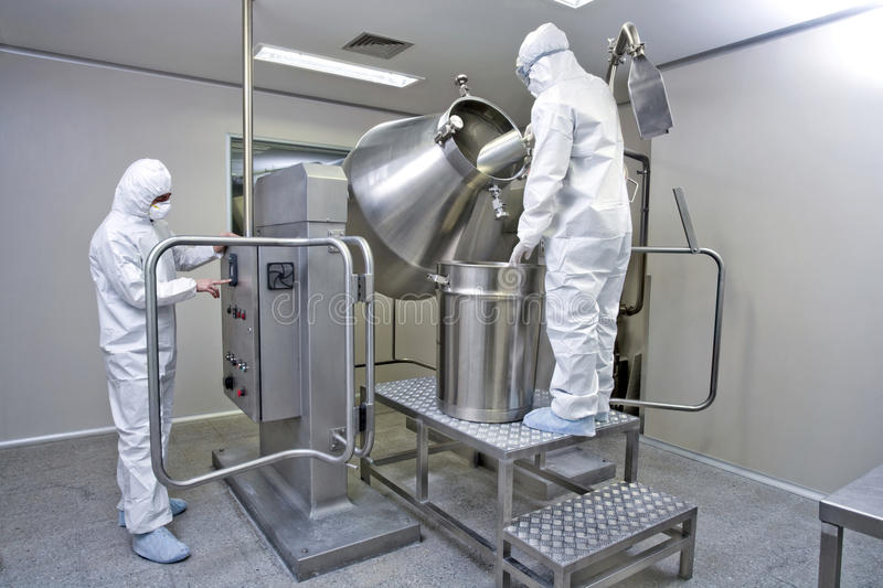 Pharmaceutical manufacturing stock image