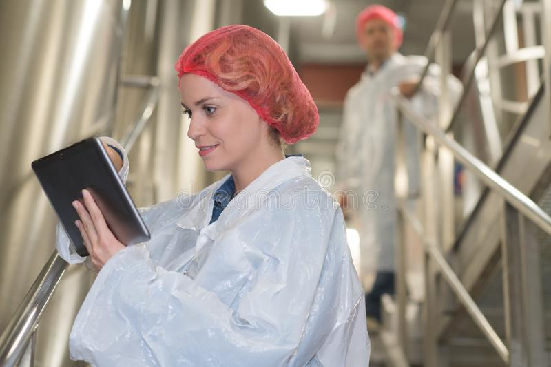 Pharmaceutical researcher making dissolution test stock images