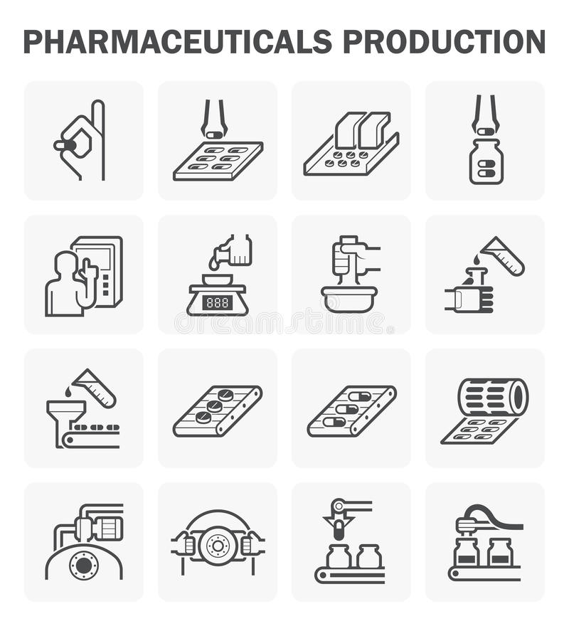 Pharmaceutical vector icon. Pharmaceutical production vector icon sets design vector illustration