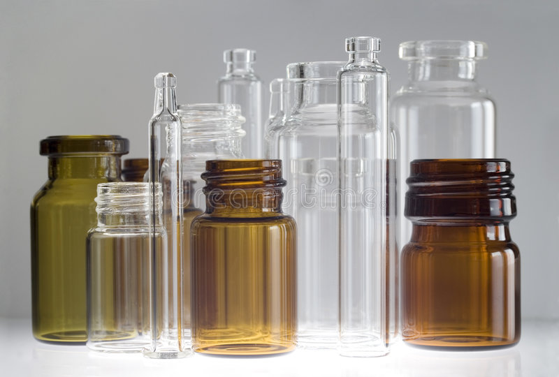 Pharmaceutical vials royalty free stock image