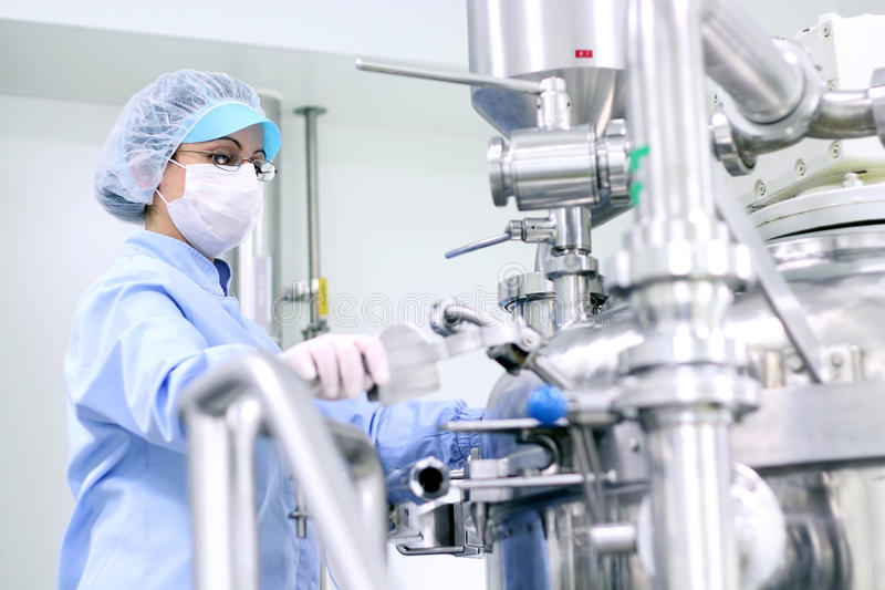 Pharmaceutical Worker At Work stock image