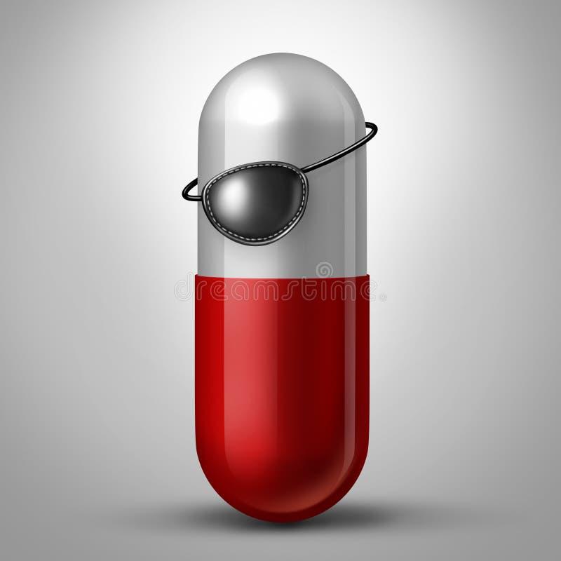 Pharmaceutique illégal illustration libre de droits