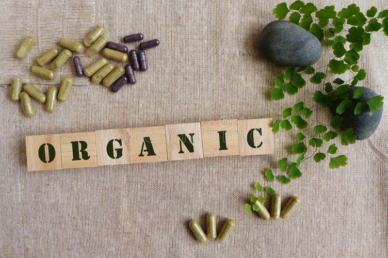 Phytothérapie organique image libre de droits