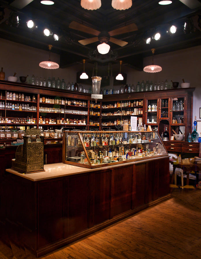Pharmacie ancienne photo stock