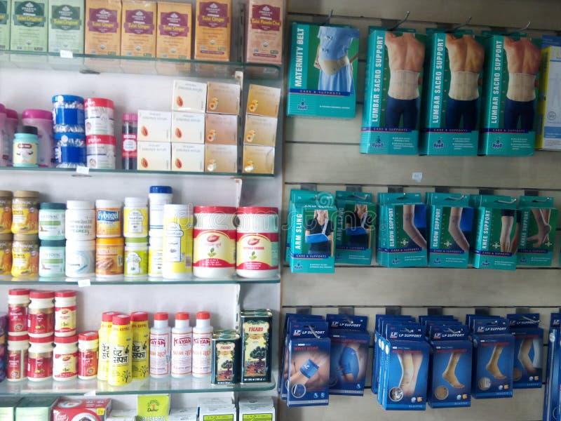 Pharmacie d'Inde image stock