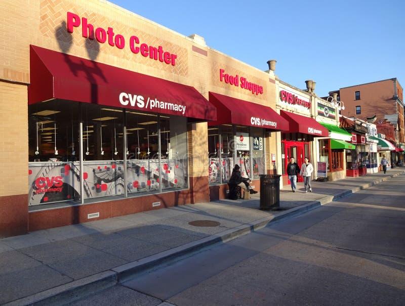 Pharmacie de CVS sur l'avenue du Connecticut photographie stock libre de droits