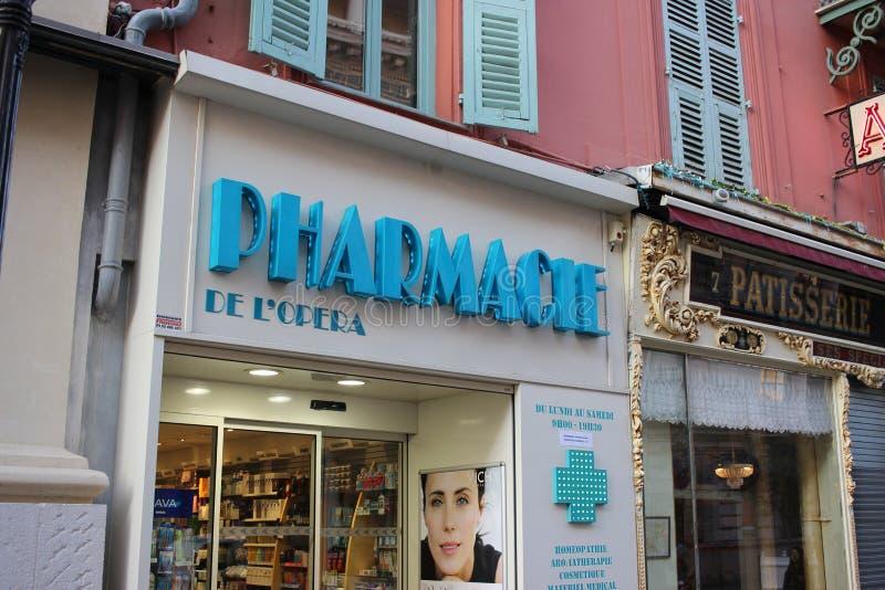 Pharmacie française photographie stock libre de droits