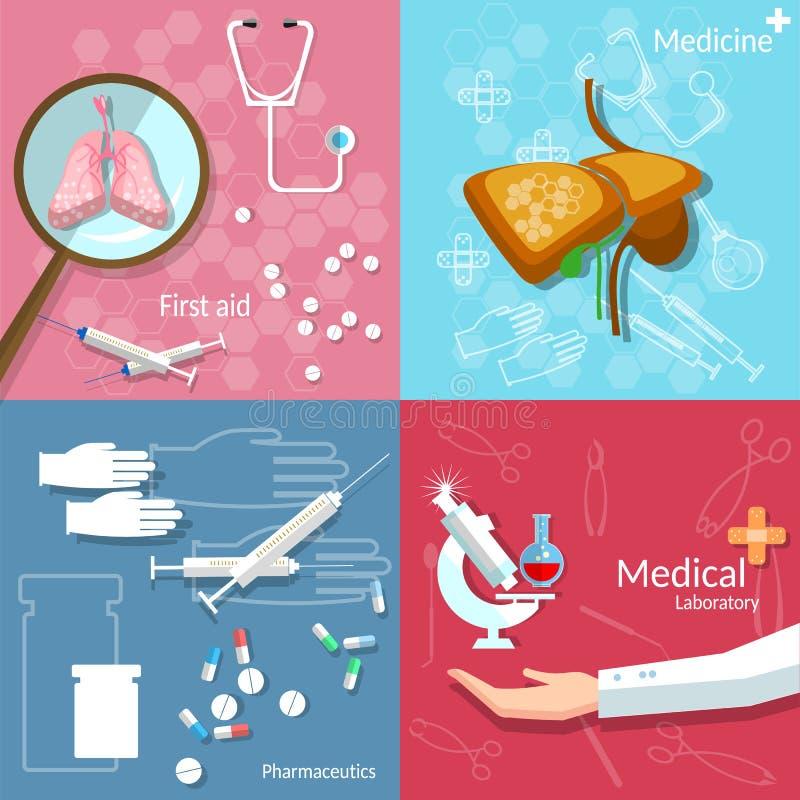Pharmacie médicale de transplantation de chirurgie d'art dentaire de concept illustration libre de droits