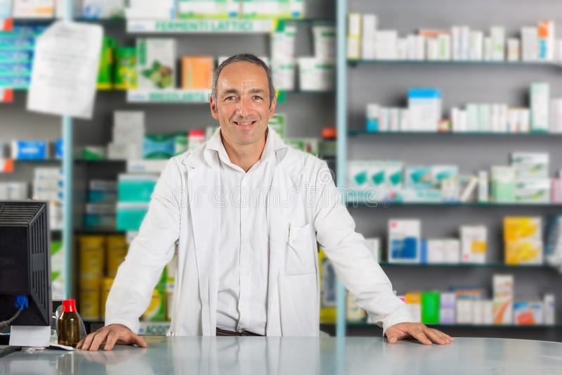 Pharmacien Portrait image stock